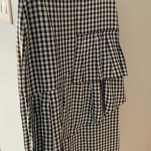Tibi checkered skirt